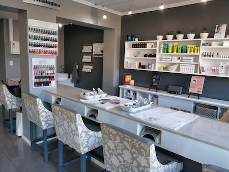 Lady Grace Nail and Skin Centre counter area